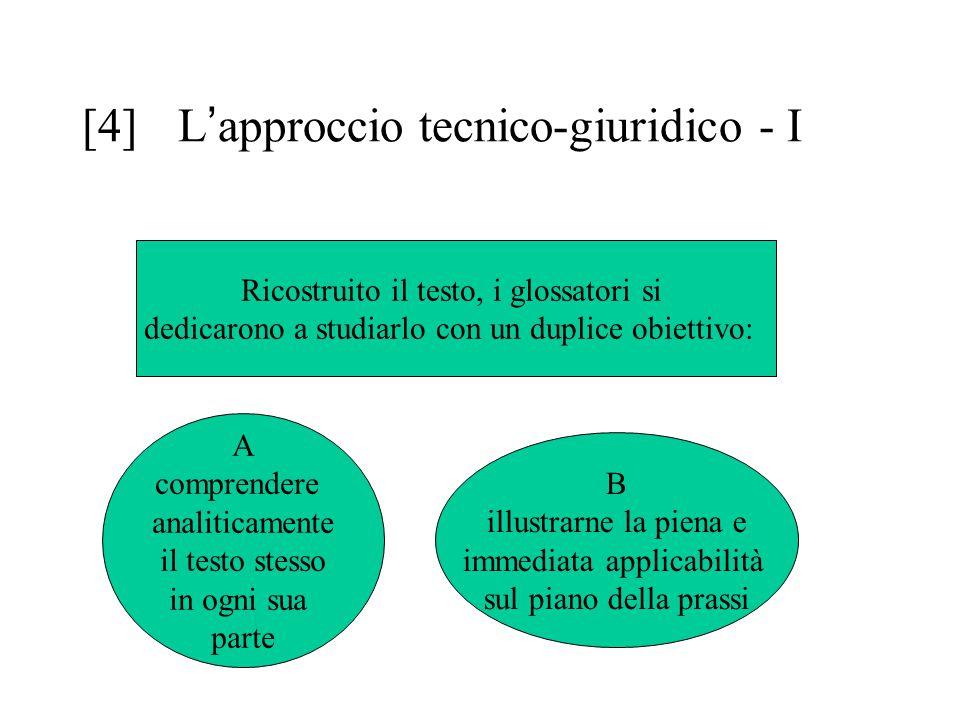 [4] L'approccio tecnico-giuridico - I